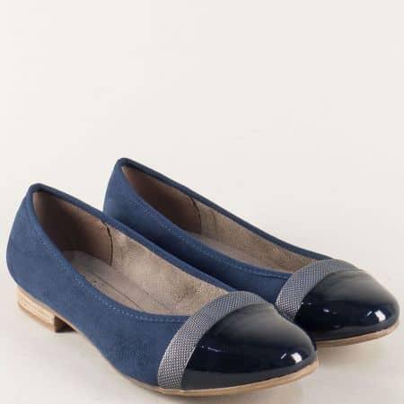 Сини дамски обувки на нисък ток- немски производител 8822165vs