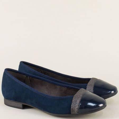 Дамски обувки в тъмно син цвят на нисък ток-  Jana 8822165vss