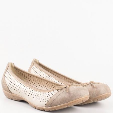 Дамски балерини за всеки ден на комфортно ходило на немския производител Jana в кафяво 8822168k