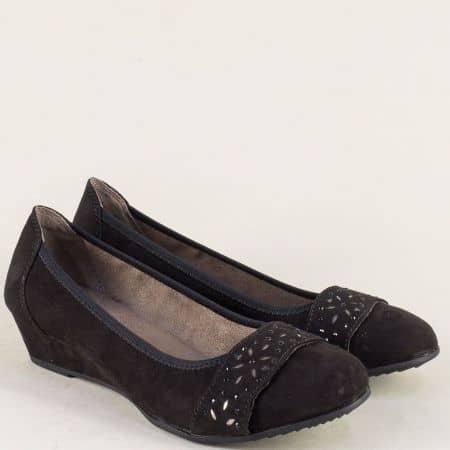 Немски дамски обувки на клин ходило в черен цвят 8822260vch