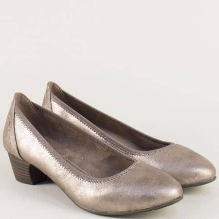 Немска дамска обувка на нисък ток в бронзов цвят 8822361brz