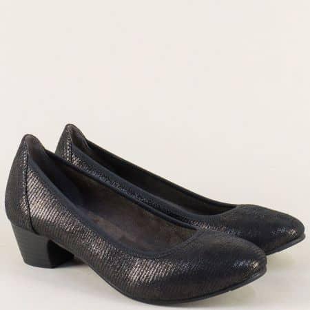 Дамски обувки на среден ток в черен цвят-  Jana 8822361zch