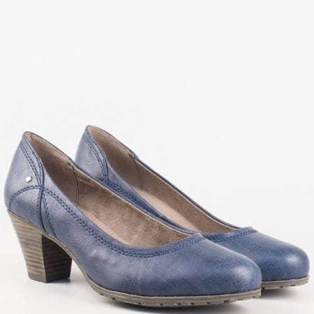 Дамски ежедневни обувки на комфортно гъвкаво ходило на немската марка Jana в син цвят 8822460s