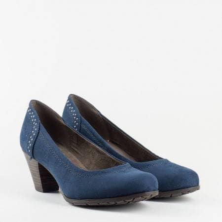 Немски  ежедневни сини обувки с изчистен дизайн. 822461s