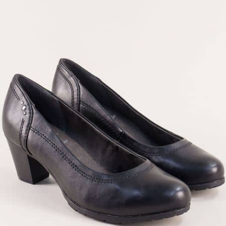 Дамски удобни обувки в черен цвят на среден ток- немски производител 8822462ch