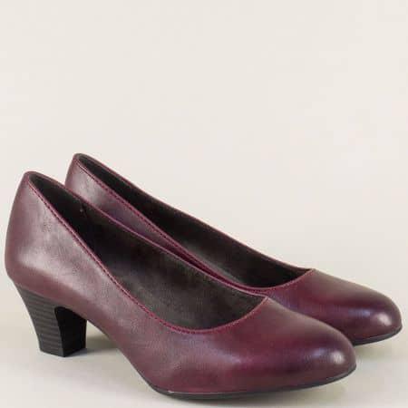 Немски дамски обувки на среден ток в цвят бордо 8822463bd