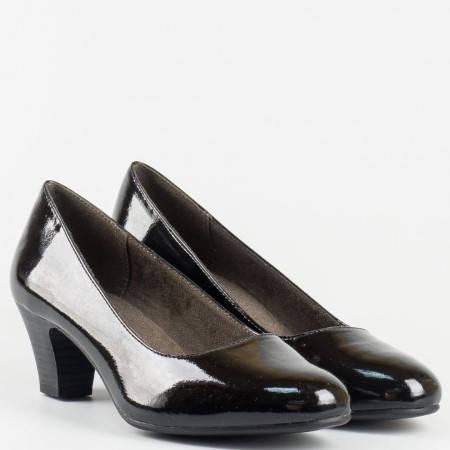 Немски дамски обувки на среден ток- Jana в черен цвят 8822463lch