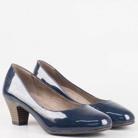 Комфортни дамски обувки на среден ток в син цвят- Jana 8822463ls