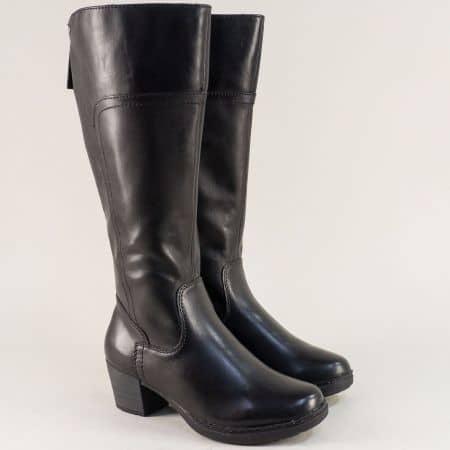 Дамски ботуши в черен цвят на среден ток- Jana 8825503ch