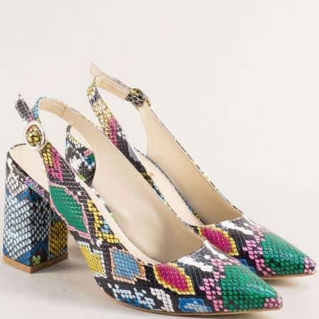 Дамски обувки в бяло, зелено, жълто, розово, синьо и черно 898zps