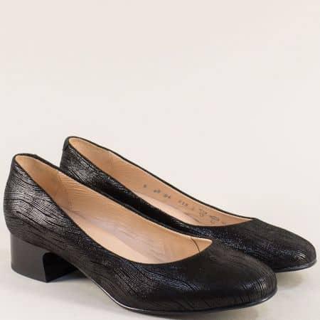 Дамски обувки от естествена кожа в черен цвят- ALPINA 8b38ch