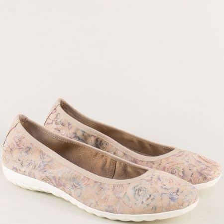 Равни дамски обувки в бежово, лилаво, синьо и розово 922142bjps