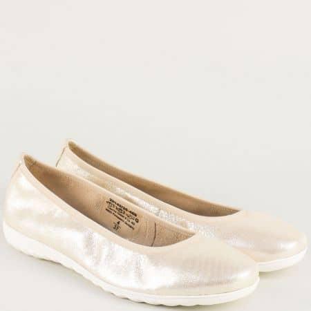 Златисти дамски обувки с кожена стелка и On Air система 922142zl