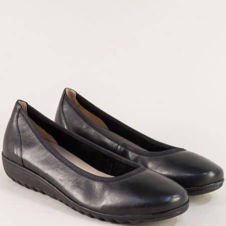 Черни дамски обувки от естествена кожа- Caprice 922161ch