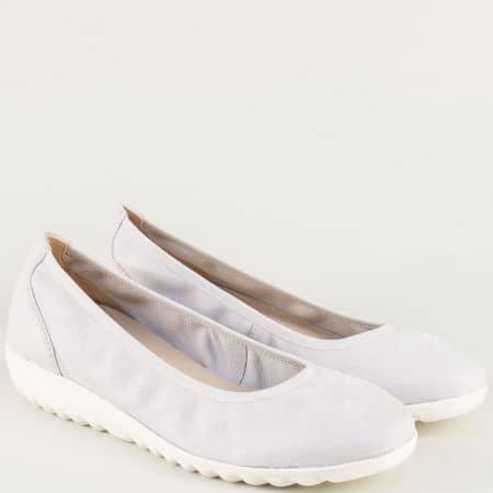 Кожени дамски обувки с вградена On Air система в сиво 922161sv