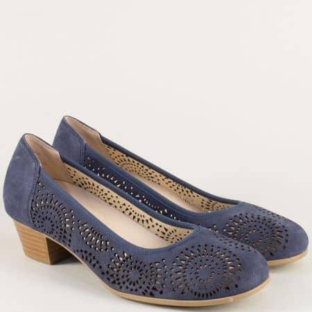 Дамски обувки на нисък ток с On Air система в син цвят 922500vs