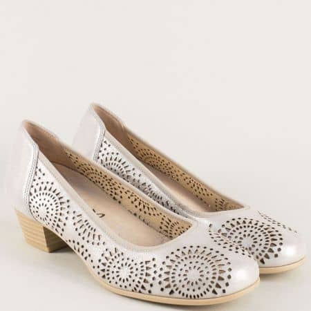 Сиви дамски обувки с кожена стелка и On Air система 922500vsv