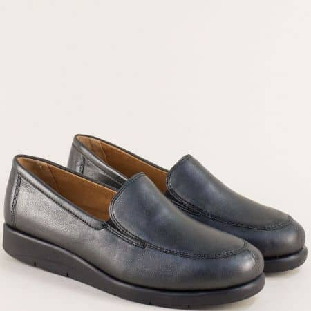 Черни дамски обувки от естествена кожа- Caprice 924750ch