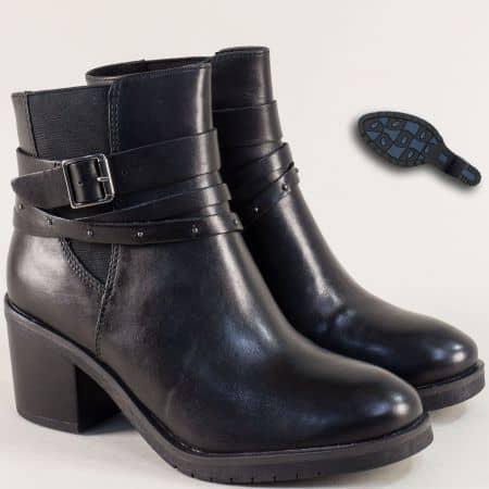 Немски дамски боти на ток от естествена кожа CAPRICE 925333ch