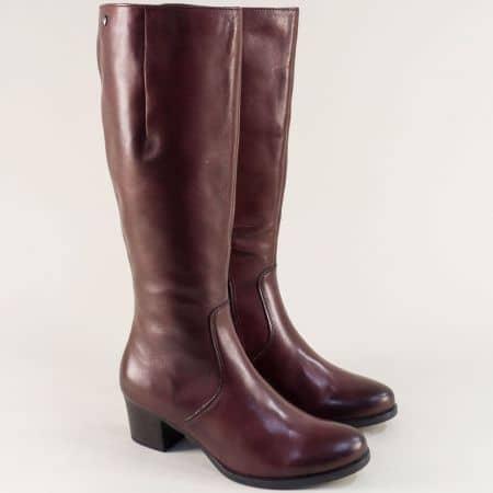 CAPRICE дамски ботуши от естествена кожа в бордо 925519bd