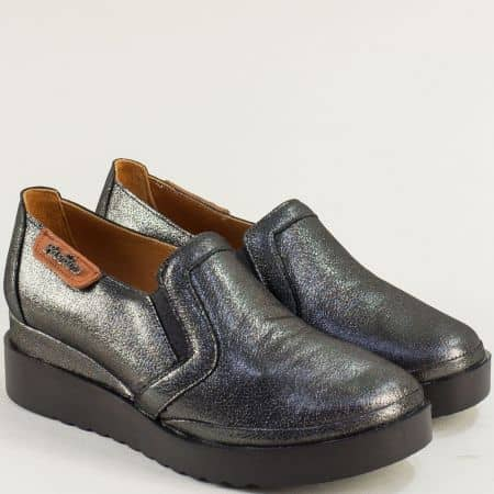 Дамска обувка на платформа цвят бронз 9267sbrz