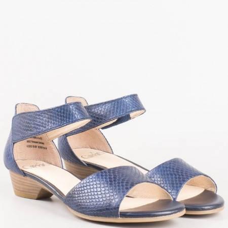 Дамски стилни сандали от естествена кожа Caprice в син цвят 928202s