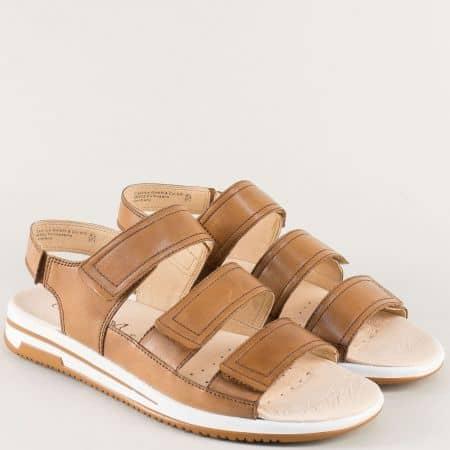 Кафяви дамски сандали на анатомично ходило- Caprice 928609k