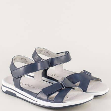 Сини дамски сандали от естествена кожа- анатомични 928610s