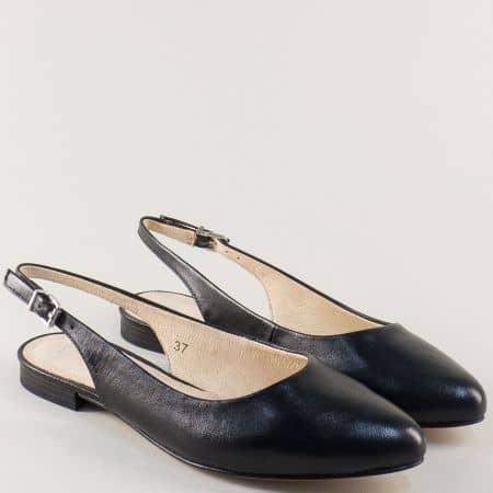 Дамски обувки  от черна естествена кожа- Caprice 929402ch
