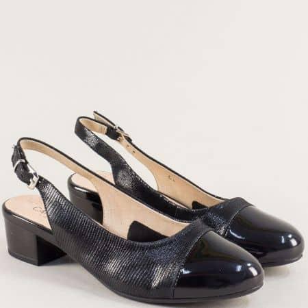 Черни дамски обувки с отворена пета и On Air система 929502ch1