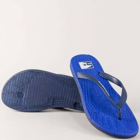 Сини мъжки джапанки на равно ходило 975-45s
