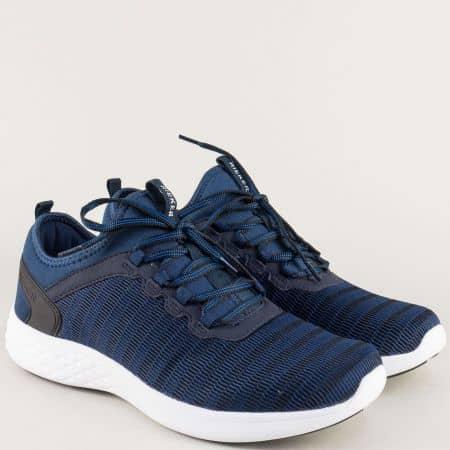 Сини мъжки маратонки с анатомична извивка- Rieker 9753s