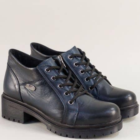 Сини дамски анатомични обувки от естествена кожа 916225s