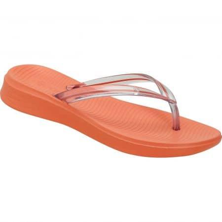 Оранжеви дамски джапанки на равно ходило- DIJEAN a256361o