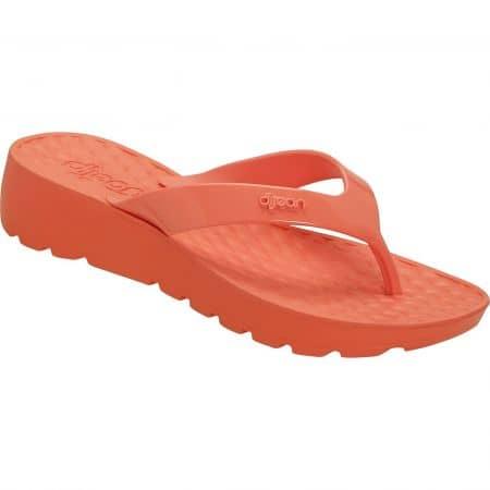 Оранжеви дамски джапанки на платформа- DIJEAN a282058o