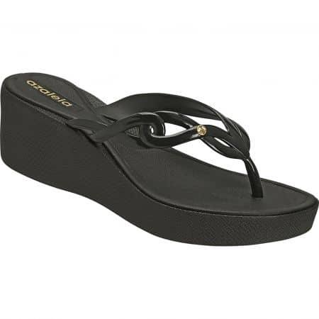 Дамски чехли в черен цвят на платформа- AZALEIA a294469ch