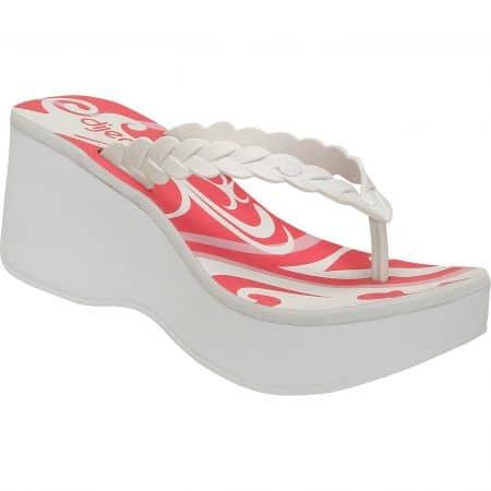 Дамски чехли на платформа в бяло и розово- DIJEAN a370358b