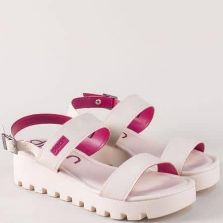 Бежови дамски сандали на комфортна платформа a471125bj