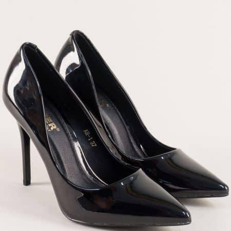 Черни дамски обувки на елегантен висок ток  ah1ch