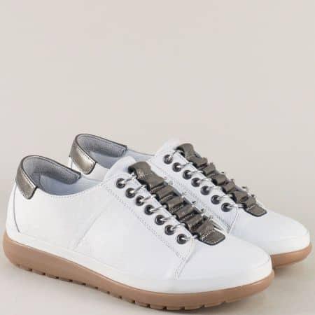 Бели дамски обувки от естествена кожа b1220b