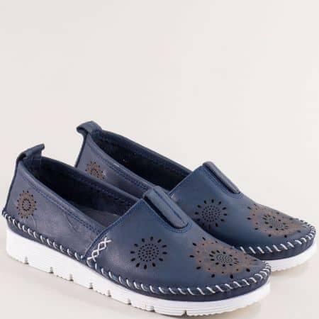 Сини дамски обувки с перфорация на гъвкаво и анатомично ходило b265sb