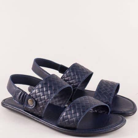 Сини мъжки сандали от естествена кожа b550s