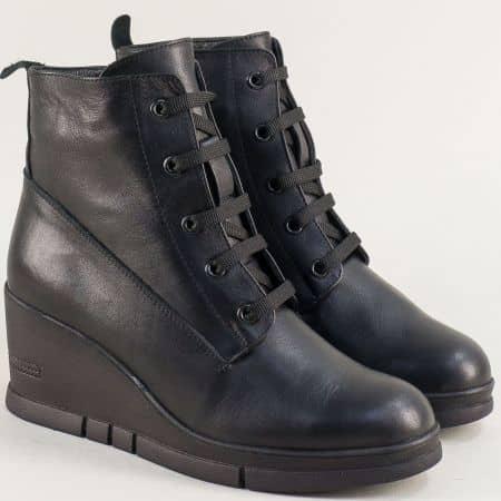 Зимни дамски обувки от естествена кожа на висока платформа b768ch