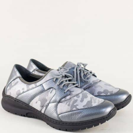 Спортни дамски обувки на анатомично ходило в сив цвят boostsv