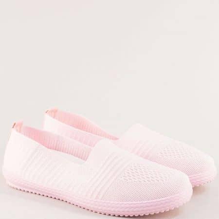 Дамски обувки от дишащ текстил в розов цвят на гъвкаво ходило ca03rz