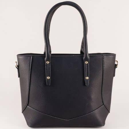 Дамска черна чанта ch10131ch