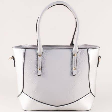 Сива дамска чанта ch10131sv