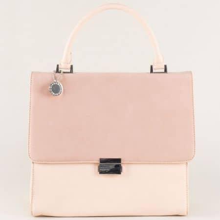 Дамска чанта в бледо розово ch13623rz