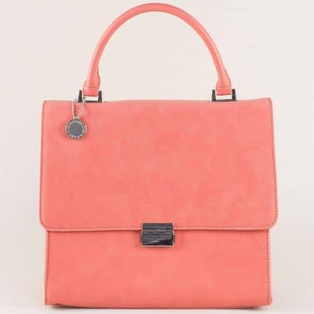 Официална дамска чанта в розово ch13623trz