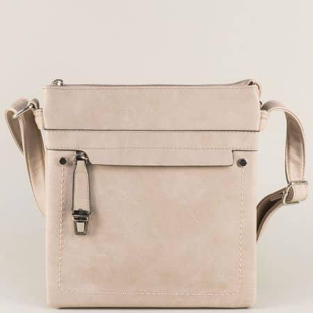Дамска малка чанта в светло кафяв цвят ch1550408tbj